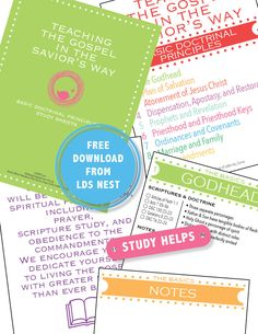 LDS NEST Sunday Scripture Study Helps Free Download