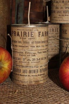 Great idea...use cans covered with copies of old local directories advertisements