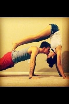 #partneryoga #yoga would love to do this with B