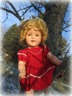 Ideal Composition Shirley Temple Doll 1930's by suburbantreasure