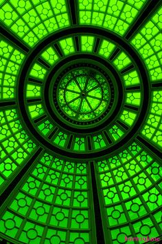 green ceiling mosaic