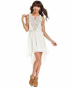 As U Wish Juniors' Beaded High-Low Dress - Dresses - Women - Macy's