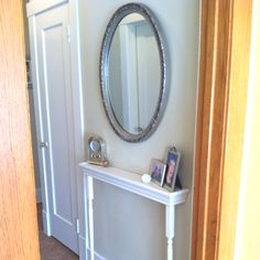 Mirror Table/Shelf for Narrow Hallway - between bathroom & Catherine's room.
