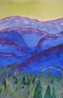 Cool colors project?  Blue Ridge Mountains (Virginia arts)