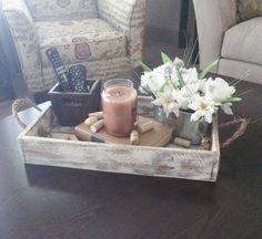 Wooden Tray Decor Stunning Handcrafted Reclaimed Wood Tray L Wooden Ottomanclevergoose Review