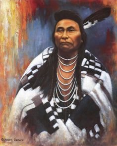 Native American Painting - Chief Joseph by Harvie Brown Native American Face Paint, Native American Warrior, Native American Paintings, American Indian Art, Indian Paintings, Native American Indians, American History, Plains Indians, Native Indian