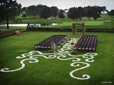 decorative petals design #ceremony #wedding