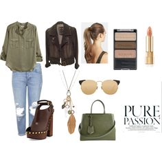 casual by margarida-costodio on Polyvore featuring H&M, GUESS, Topshop, Tom Ford, Fendi, Mudd, Linda Farrow, France Luxe and Wet n Wild