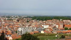 Perpignan seen from the Palace of the Kings of Majorca