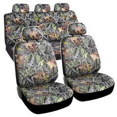 Hawg Camo Seat Covers Forest Pattern Camouflage Cushion Grip Steering Wheel Cover Set for Auto Truck Car SUV Camo Seat Covers, Golf Cart Seat Covers, Truck Seat Covers, Leather Car Seat Covers, Car Covers, Car Seats, Camo Truck, Automatic Pool Cover, Painted Stools