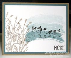 Stamps: Wetlands, Work of Art C/S: Whisper White), Crumb Cake, Lost Lagoon Ink: Crumb Cake, Lost Lagoon, Black
