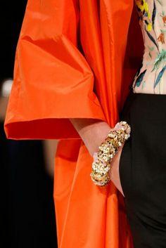 Dior jacket in fantastic orange #luxurydotcom