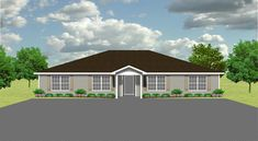 Duplex plan PlanSource, Inc Investment Property, Rental Property, Duplex Floor Plans, Duplex Design, Townhouse, Shed, Outdoor Structures, How To Plan, Mansions