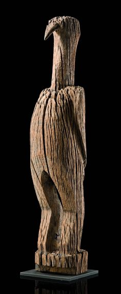 """Africa   Fragment of a grave post """"aloala"""" of the Mahafaly people of Madagascar   Wood"""
