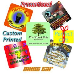 Personalised Custom Printed Beer Mats / coasters 24 per pack - Double sided! | eBay