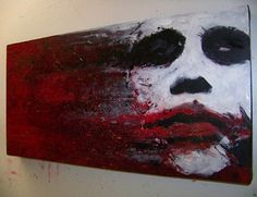 superbestiario: A Wrench in the Gears (The Joker/Heath Ledger/Batman) by Jim Hance Joker Heath, Joker Kunst, Joker Painting, Otto Schmidt, Joker Art, Joker Batman, Gotham Batman, Batman Art, Creation Art