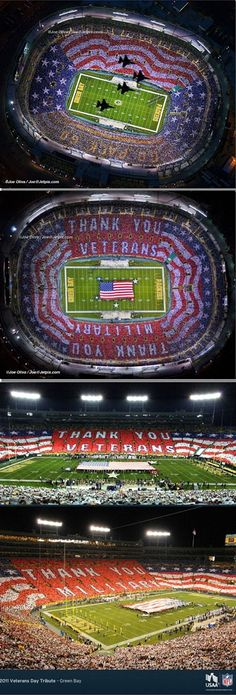 ESPN Missed IT! - LAMBEAU FIELD NFL GREEN BAY GAME 9-17-12 - THEY FAILED TO SHOW AIR FORCE FLYBY AND HUGE AMERICAN FLAG CREATED FANS!
