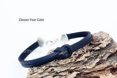 Leather Bracelet for Men Women, Customized Personalized Leather Bracelet Men, Casual Bracelet, Leather Band, Infinity Bracelet, Choose Color by PearlTwinkle on Etsy https://www.etsy.com/ca/listing/477789649/leather-bracelet-for-men-women