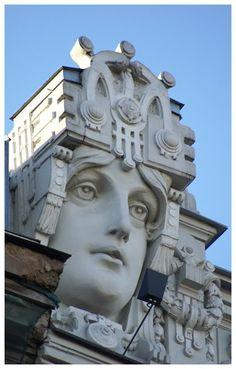 Art Nouveau architecture. Riga, Latvia
