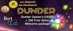 Dunder Casino Gratis 20 Free Spins alleen voor aanmelden, storten niet nodig. Dunder is een heel nieuw casino (maart 2016) en legt de nadruk op een makkelijke site voor de klant.