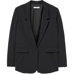 Structured Crepe Blazer ($38) ❤ liked on Polyvore featuring outerwear, jackets, blazers, crepe jacket, crepe blazer, blazer jacket, fleece-lined jackets and mango jackets