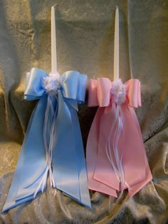 Originals by Stephanie - Baptismal Candles Christening Giveaways, Baptismal Giveaways, Candle Decorations, Diy Candles, Baptism Candle, Baby Boy Baptism, Christening Invitations, Baptisms, Event Styling