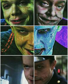 Jerome in Gotham next to the other three Jokers (Jack Nicholson, Jared Leto, and Heath Ledger) ❤️