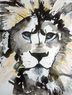 "Saatchi Art Artist Ilaria Berenice; Painting, ""Lion"" #art"