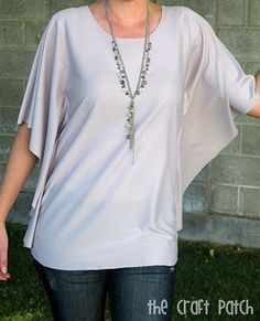 A super easy sewing project... make a circle shirt. Best thing to wear on a hot summer day!