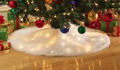 Led Lighted Snow Tree Skirt