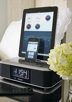 Wake up to your favorite music and start your day with three fully charged mobile devices.