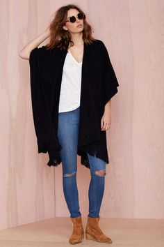 Hang Up Fringe Cardigan - Cardigans