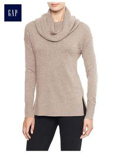 Factory cowlneck drop-shoulder sweater