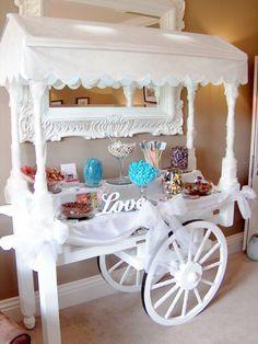 Yorbridge House Candy Cart Wedding Sweet Table
