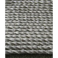 Modern Rugs Tides Silver Area Rug Rug Size: Square 5'
