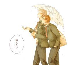 Haikyuu!! - Takanobu Aone x Kenji Futakuchi - AoFuta