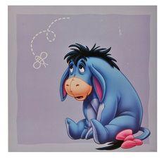 Wandtattoo / Fensterbild / Sticker groß - Winnie the Puuh Esel I-Aah - Wandsticker selbstklebend Pooh 4 eckig