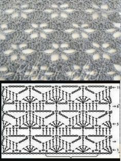 Crochet Shawl Diagram, Crochet Motifs, Crochet Stitches Patterns, Crochet Afghans, Crochet Chart, Knitting Stitches, Stitch Patterns, Knitting Patterns, Afghan Patterns