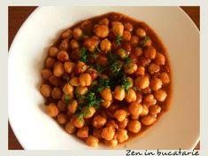 Mancare de naut Chana Masala, Healthy Recipes, Healthy Food, Veggies, Vegan, Cooking, Ethnic Recipes, Cream, Salads
