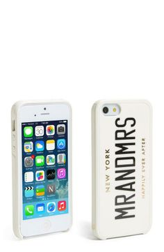 Fun gift for the bride and groom | Kate Spade iPhone 5 & 5s case