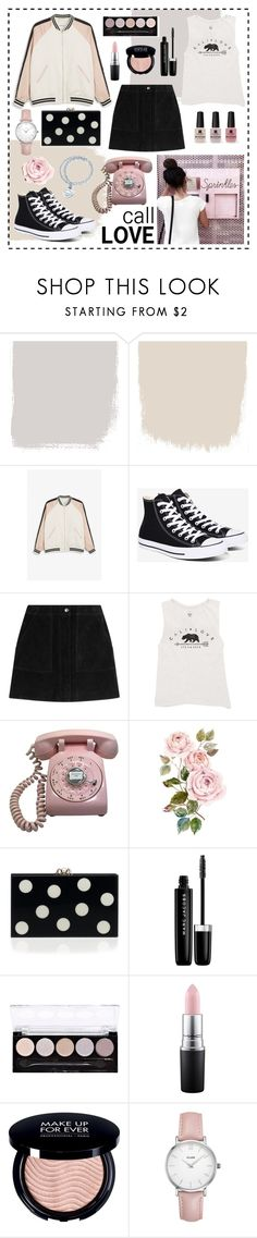 """❤call love...❤"" by clarinette38 ❤ liked on Polyvore featuring Monki, Converse, rag & bone, Billabong, Victoria's Secret, Marc Jacobs, L.A. Colors, MAC Cosmetics, CLUSE and Tiffany & Co."