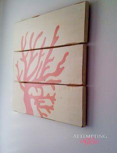 Attempting Aloha: Three Board Coral Wall Art - Take Two