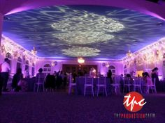 30 LED Uplights and 6 Break Out Gobo Projections Bring the Ballroom at the Cuban Club in Tampa, FL to life!
