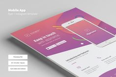 Premium quality flyer template for Adobe Photoshop, perfect to promote your mobile application. Customizable and very easy to use. Available in 3 formats.A4, US Letter, and square version for Instagram advertisement or other social media. Download this template here https://crmrkt.com/Q6RmQ #flyer #poster #template #mobileapp #app #application #advertising #advertisement  #ads #promotion #promotional #adobe #photoshop #creativemarket #graphic #design #designer #commerce #business