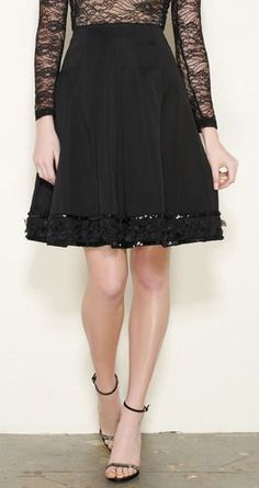 Edward Achour Black Skirt