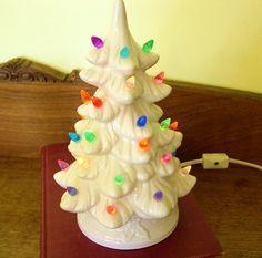 Vintage Ceramic Lighted Christmas Tree  by vintagebytheseashore, $30.00
