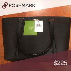 """Kate spade newbury lane small dally black like new This was used for a month. Had tags on before I started using it. Gorgeous small zippered tote! Hard leather. No marks anywhere that I saw. Very like new! Black interior also as shown in pic. Dimensions are 16"""" across top, 11"""" across bottom, 5"""" wide and 9.5"""" tall. Smoke free home kate spade Bags Satchels"""