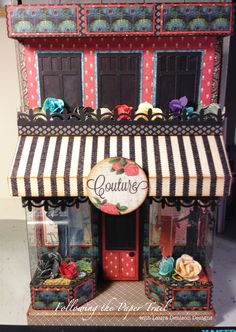 A NEW Series to begin.Wonderful creation from Laura Denison with the new Graphic 45 Couture collection. 3d Paper Crafts, Paper Art, Arts And Crafts, Foam Crafts, Paper Crafting, Graphic 45, Altered Boxes, Altered Art, Scrapbooking