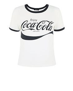 White Coca Cola T-Shirt  | New Look