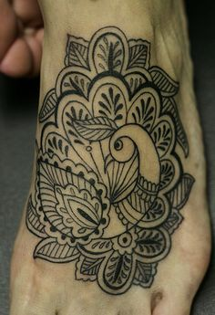 Henna style batik Peacock tattoo - I want an elephant in this style.